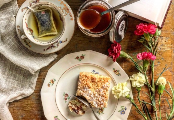 Crumb Coco Bar with Eglantine jam